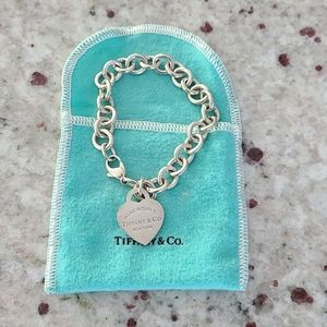 Tiffany & Co. Heart Tag Silver Chain Link Bracelet